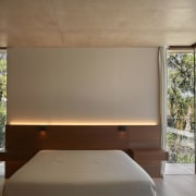 Architect: Ramón Esteve Estudio de Arquitectura architecture, bed frame, ceiling, daylighting, floor, home, house, interior design, lighting, real estate, wall, window, wood, brown, gray
