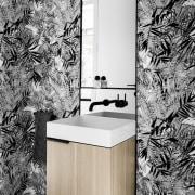 Architect: Technē Architecture + Interior DesignPhotography by bathroom, bathroom accessory, black, black and white, floor, interior design, monochrome, monochrome photography, product design, tap, tile, wall, white, black
