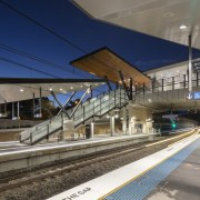 Cheltenham Station – Cox Architecture high speed rail, metropolitan area, public transport, track, train, train station, transport, gray