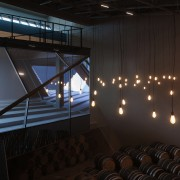 New brandy warehouse by TOTEMENT/PAPER - New brandy architecture, auditorium, ceiling, daylighting, interior design, light, lighting, structure, black