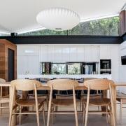 Architect: Alexandra Buchanan ArchitecturePhotography by Debra McFadzean architecture, ceiling, dining room, house, interior design, real estate, table, window, gray, white