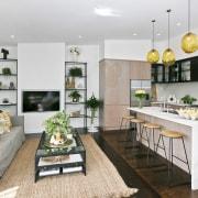 Architect: Allan McIntosh of Buildology Ltd countertop, interior design, kitchen, real estate, gray