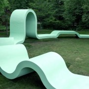 Designed by SPORTS chair, chaise longue, furniture, grass, lawn, outdoor furniture, product design, sunlounger, green, teal