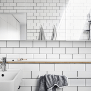 Architect: Liam WallisPhotography by Tess Kelly bathroom, black and white, floor, flooring, interior design, monochrome, product design, room, tap, tile, wall, white