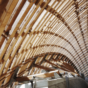 Forestry Branch – Marche-en-Famenne beam, ceiling, daylighting, lumber, roof, wood, brown, white
