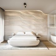 Mayfair Residential Tower – Zaha Hadid Architects architecture, bathroom, floor, interior design, product design, room, gray