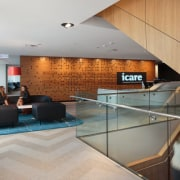 icare – dwp | design worldwide partnership architecture, ceiling, floor, flooring, interior design, lobby, gray