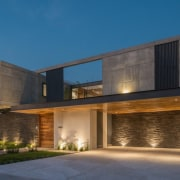 Colima home/Di Frenna Arquitectos architecture, building, elevation, estate, facade, home, house, property, real estate, residential area, window, teal