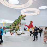LEGO House – BIG exhibition, tourist attraction, gray