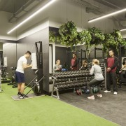 Upwell Health Collective – Siren Design Group Pty recreation, room, structure, gray
