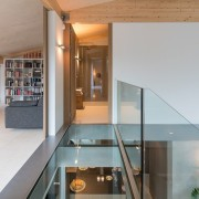 Another view of the glass floor architecture, glass, house, interior design, loft, gray
