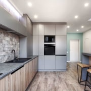 Architect: Martin ArchitectsPhotography by Alexander Kondrianenko cabinetry, countertop, floor, interior design, kitchen, real estate, gray