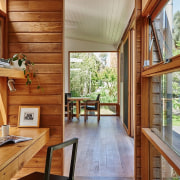 Architect: Kim Irons Photography by Nikole Ramsay architecture, hardwood, home, house, interior design, property, real estate, window, wood, gray, brown
