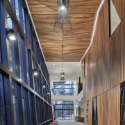 Architect: McIldowie PartnersPhotography by Peter Clarke architecture, building, ceiling, daylighting, facade, structure, wood, brown, gray