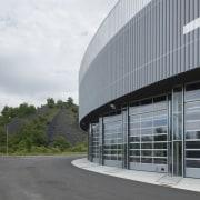 569 firestation architecture, building, corporate headquarters, facade, headquarters, structure, gray