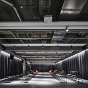 H Academy – Shi-Chieh Lu/CJ Studio - H architecture, ceiling, daylighting, infrastructure, line, structure, black, gray