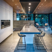 For this kitchen, designer Kirsty Davis created a architecture, ceiling, interior design, real estate, gray, rangehood, appliance
