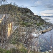 Photo: Pasi Aalto / pasiaalto - NPA and coast, cottage, house, lake, loch, real estate, terrain, gray, teal