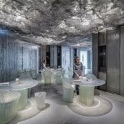 It almost looks like an ice bar - architecture, ceiling, interior design, gray, black