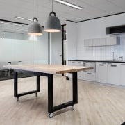 Austbrokers Countrywide – New office designed by A1 floor, flooring, furniture, interior design, office, product design, table, gray