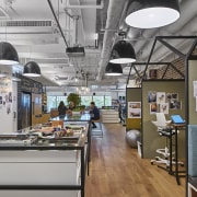 The new M Moser Hong Kong office has interior design, gray