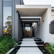 Architect: Damon HillsPhotography by Nic Granleese architecture, courtyard, estate, facade, home, house, property, real estate, gray