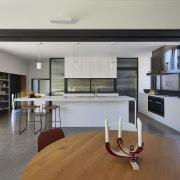 Architect: Austin Maynard ArchitectsPhotography by Peter Bennetts architecture, floor, house, interior design, living room, loft, property, real estate, gray