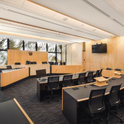 The Family Court at the Christchurch Justice & architecture, ceiling, conference hall, interior design, lobby, office, white, black