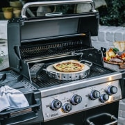 Baking pizza on a BBQ? Of course! - barbecue grill, grilling, home appliance, kitchen appliance, outdoor grill, black, gray