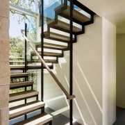 View the home here glass, handrail, stairs, structure, gray