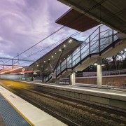 Cheltenham Station – Cox Architecture - Cheltenham Station architecture, high speed rail, metro station, metropolis, metropolitan area, overpass, public transport, rail transport, rapid transit, track, train, train station, transport, urban area, black