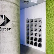 From the moment you enter, you know where product design, gray