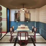 Designed by: AlvinT StudioPhotography by Martin Westlake dining room, interior design, room, wall, gray, brown