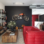 Loft Living Bike - Tim Street Porter - home, interior design, living room, room, table, black, gray
