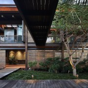 Architect: Olson KundigPhotography by Benjamin Benschneider architecture, building, condominium, courtyard, facade, home, house, outdoor structure, property, real estate, residential area, black, gray