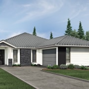 GJ Gardner home auction contributes to Big Buddy building, cottage, elevation, estate, facade, home, house, landscape, property, real estate, residential area, roof, siding, suburb, teal