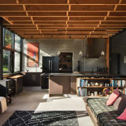TIDA NZ 2017 – Architect-designed new home winner house, interior design, living room, loft, black, brown