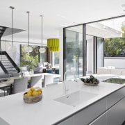 Architect: Shachar-Rozenfeld architectsPhotography by Shai Epstein architecture, countertop, house, interior design, kitchen, white, gray