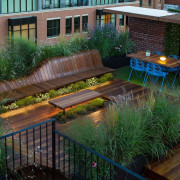 Architect: J.Roc Design backyard, courtyard, garden, grass, landscape, landscaping, lighting, outdoor structure, plant, pond, walkway, water, yard, green, black