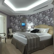 Recessed lighting is certainly one of the more bed frame, bedroom, ceiling, interior design, room, wall, gray