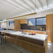 Arrowtown-based Bennie Builders was the only Southern Lakes architecture, countertop, daylighting, house, interior design, kitchen, real estate, gray, brown