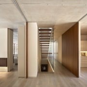 Architect: Ramón Esteve Estudio de Arquitectura architecture, ceiling, daylighting, floor, flooring, hardwood, interior design, laminate flooring, lobby, wood, wood flooring, gray, brown
