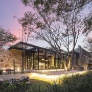 Architect: Central de Proyectos SCP architecture, cottage, estate, farmhouse, home, house, landscape, property, real estate, black, gray