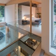 A glass floor makes for an interesting addition architecture, glass, home, house, interior design, property, real estate, window, gray