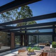 Architect: Alexandra Buchanan ArchitecturePhotography by Debra McFadzean architecture, daylighting, house, outdoor structure, patio, property, real estate, roof, shade, window, black