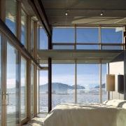 Architect: Olson Kundig Architects  architecture, daylighting, home, house, interior design, penthouse apartment, property, real estate, window, wood, black, gray