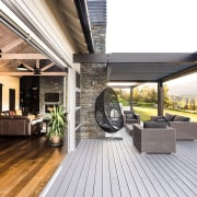 This home is stunning in so many ways. deck, floor, house, interior design, outdoor structure, patio, real estate, white