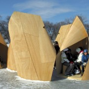 Architect: Patkau ArchitectsPhotography by James Dow product design, winter, wood, orange