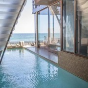 Edward Norton's new Malibu Colony home – Trulia condominium, daylighting, property, real estate, swimming pool, water, window, gray, teal