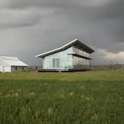 Architect: Olson Kundig Architects  cloud, cottage, farm, farmhouse, field, grass, grassland, home, house, land lot, meadow, pasture, plain, prairie, real estate, rural area, sky, gray, brown